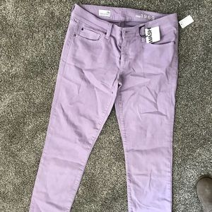 Gap skinny jean purple size 29